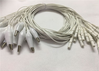 Din 2.0 Style Eeg Cup Electrodes Cable، 1.2m Alligator Eeg Cable Cable